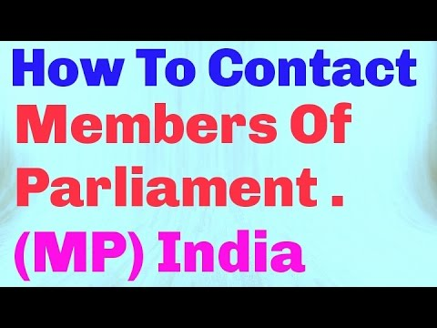 How To Contact Member Of Parliament Of Your Constituency In India