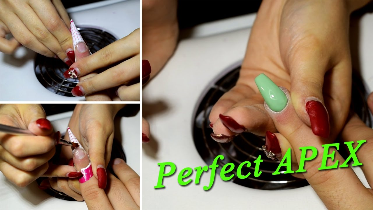 How to: Perfect Apex for gel nails !!! - YouTube