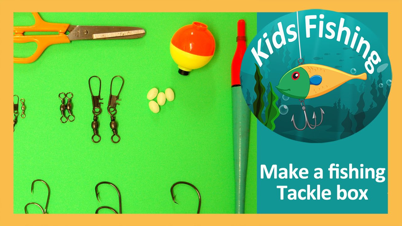 Make a saltwater fishing tackle box - Kids Fishing