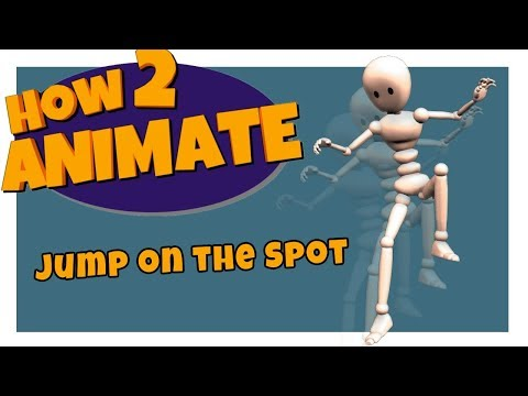 How to Animate a Basic Jump on the Spot | 3D Maya Animation Tutorial for Beginners | HOW 2 ANIMATE