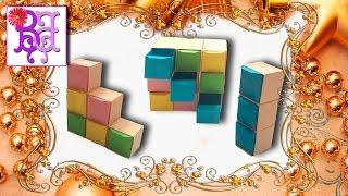 Как сделать Шкаф для кукол из бумаги. Органайзер для украшений. Квадратная коробка. Оригами.