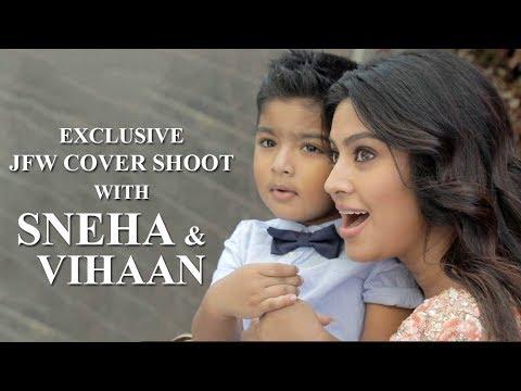 Actress Sneha and Vihaan Photo Shoot Video   Behind the Scenes   JFW May'18 Edition