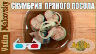 3D stereo red-cyan Рецепт скумбрия пряного посола. Мальковский Вадим