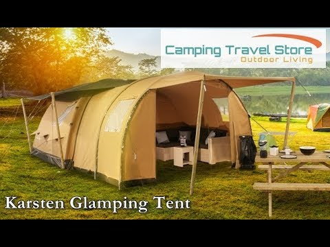 Karsten Gl&ing Luxe - A modular inflatable gl&ing tent & Karsten Glamping Luxe - A modular inflatable glamping tent - YouTube