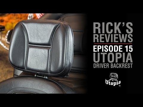 Utopia Driver Backrest for GL1800 | Rick's Reviews Episode 15 | WingStuff.com