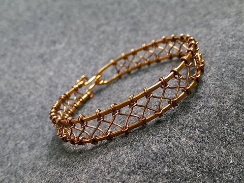 Wire knot bracelet - how to make wire wrap jewelry 229