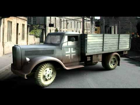 Truck engine - moving sound effect