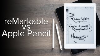 reMarkable vs Apple Pencil writing test