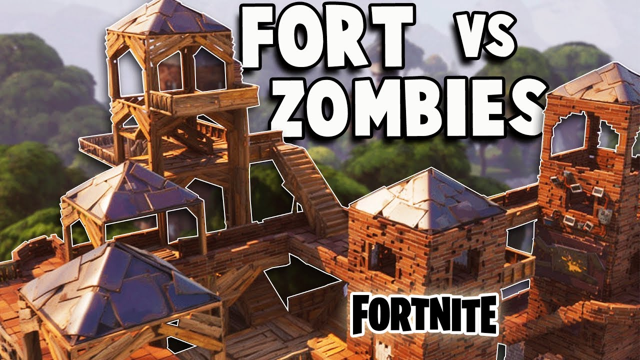 Defend The Epic Fort Vs Huge Zombie Attack Fortnite -5331