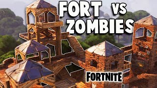 Defend the EPIC Fort vs Huge ZOMBIE ATTACK! (Fortnite Multiplayer Gameplay Part 1) thumbnail