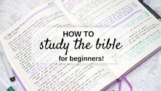 How To Study the Bible for Beginners   Tips, Tricks and Demo!