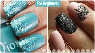 Easy nail art for short nails #8 💖 Manicure for beginners