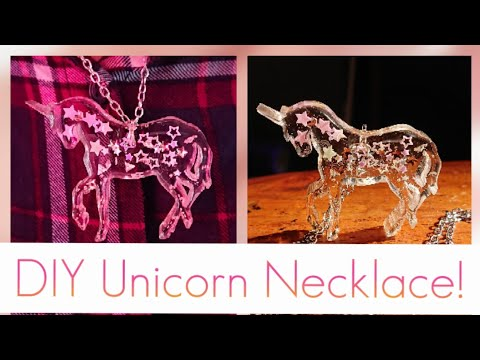 How To Make A Unicorn UV Resin Necklace | DIY Craft Tutorial