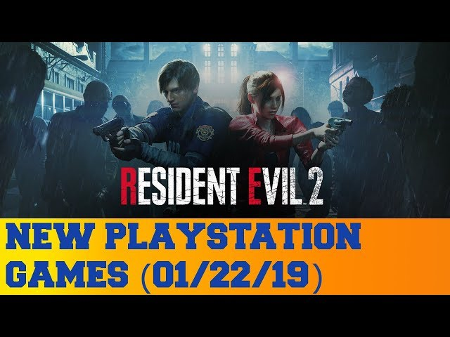 New PlayStation Games for January 22nd 2019
