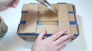 как сделать сундук из картонной коробки своими руками