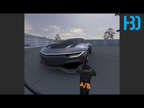 VR with VRED and the HTC VIVE for Car Design