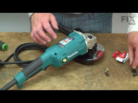 Makita Grinder Repair - How To Replace The Carbon Brush Set