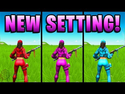 HOW TO CHANGE THE COLOR OF YOUR SKIN! (New Setting)