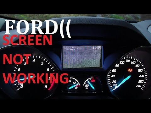 Ford Escape / Focus Cluster replacement screen problem 2013 2014 2015 2016 2017 transit remove