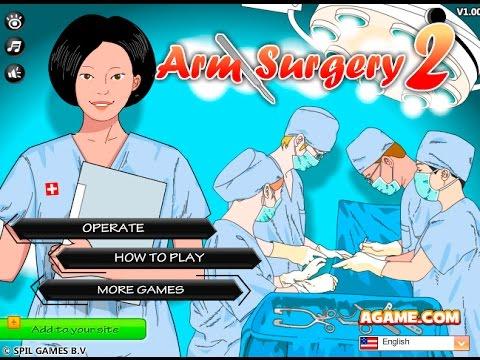 Flash игра операция на руке.1 часть