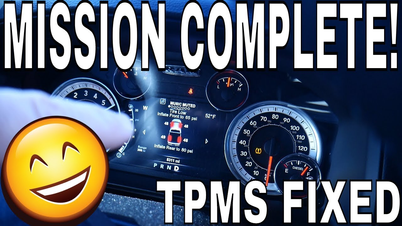 MISSION COMPLETE! Ram TPMS Thresholds Adjusted & Fixed