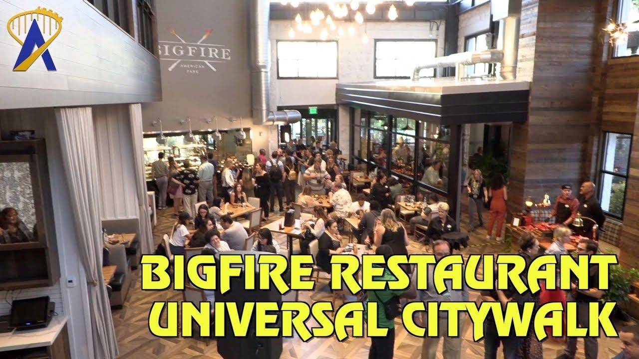 Bigfire American Fare Restaurant At Universal Orlando Citywalk