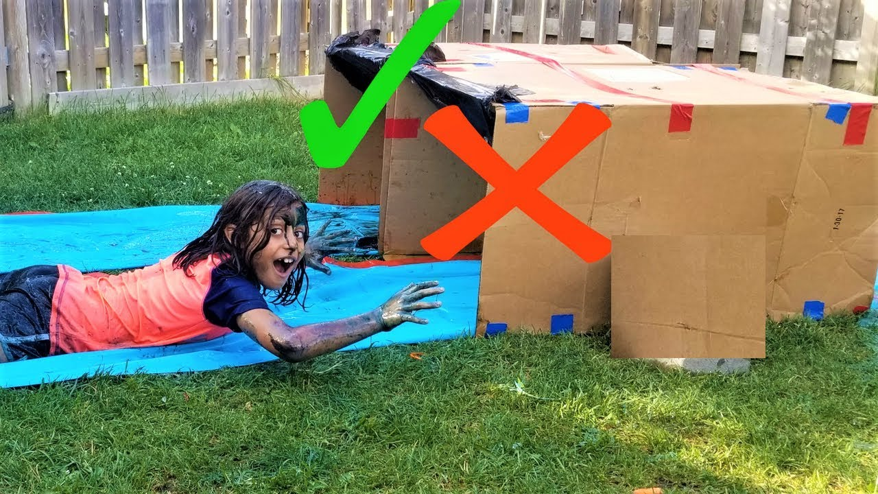 Download DONT Water Slide Through The WRONG Mystery Box challenge!!