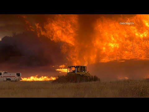 INSANE Fire Behavior, FIRENADO, Massive Flames At The Chaparral Fire | Murrieta