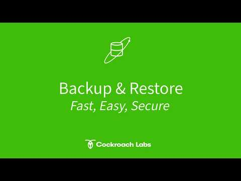 Backup & Restore in CockroachDB: Fast, Easy & Secure