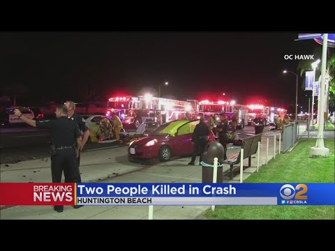 2 Dead, 3 Taken To Hospital Following Car Accident In Huntington Beach