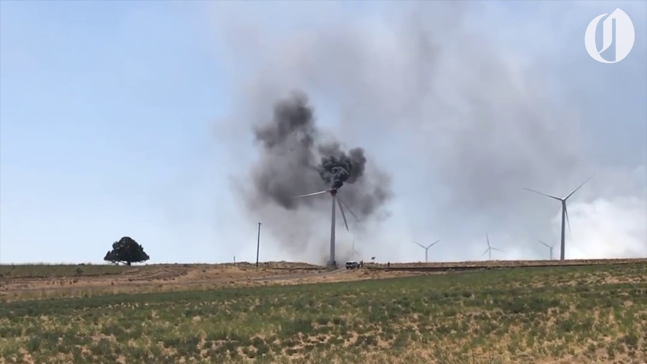 Wildfire In Southern Washington Caused By Wind Turbine That Caught Fire Oregonlive Com