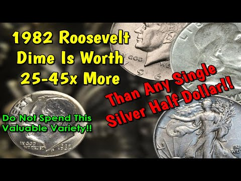 1982 Roosevelt Dime Worth 45x More Than A Silver Half Dollar!! - Do Not Spend This Coin!