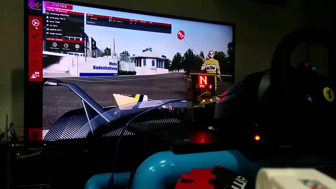 Arduino sim dashboard by Ausasua K