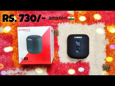 Zivonics ZIV-3 Bluetooth Speaker | Unboxing & Review | Best Sounding Speakers Under Rs 1000?