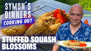 Michael Symon's Stuffed Squash Blossoms   Symon's Dinners Cooking Out   Food Network