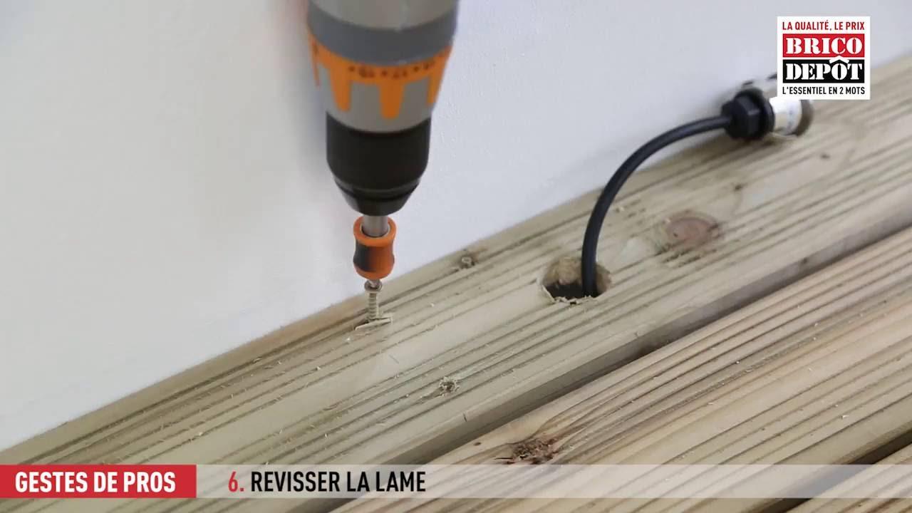 Comment Installer Des Spots Encastrables Sur Une Terrasse En Bois Youtube