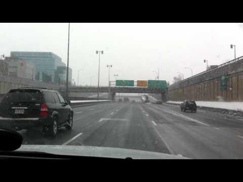 Snowfall @ Decarie highway - Montreal