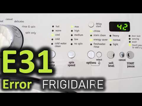 E31 Error Code SOLVED!!! Frigidaire Front Load Washer