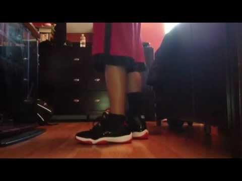 0dc1cb3608055a 2012 Air Jordan bred 11 retro on feet - YouTube