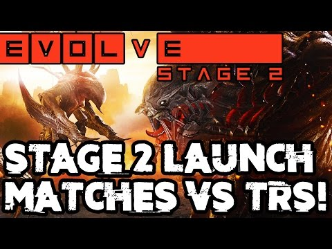 EVOLVE STAGE TWO LAUNCH DAY MATCHES!! Evolve Gameplay Walkthrough - TONS of Monsters/Hunters/Skins!!