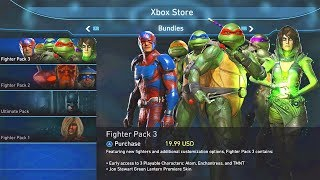 INJUSTICE 2 - FIGHTER PACK 3 (TMNT Image) Available To Purchase! Ninja Turtles/Enchantress