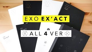 EXO Vol. 3 EX'ACT  ♣  Monster + Lucky One (All Versions) Unboxing