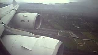 Iberia A340-600 landing Quito from Madrid