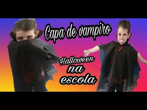 b42fdb875 Como fazer capa de vampiro em TNT ! Fantasia simples e fácil - YouTube