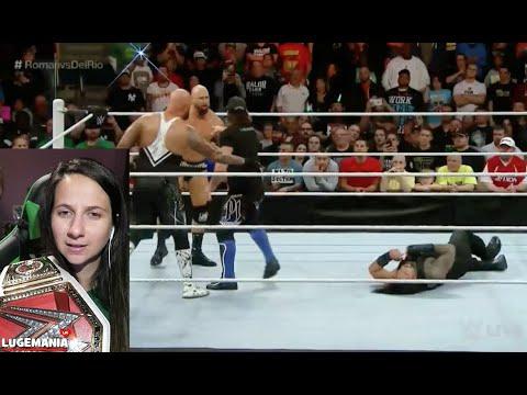WWE Raw 4/25/16  Roman Reigns vs Alberto Del Rio