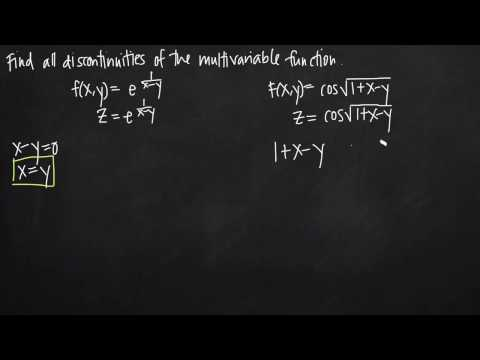 Discontinuities Of A Multivariable Function (KristaKingMath)