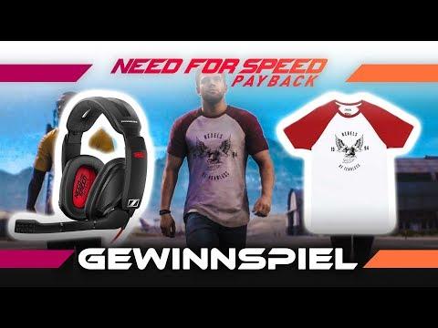 Gewinnspiel zu Need for Speed Payback: Sennheiser GSP 303 Headset + Tyler Morgan T-Shirt!