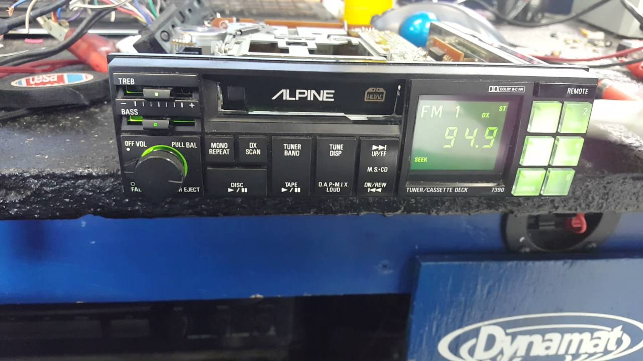Alpine 7390 With New Caps Youtube Wiring Harness 7400