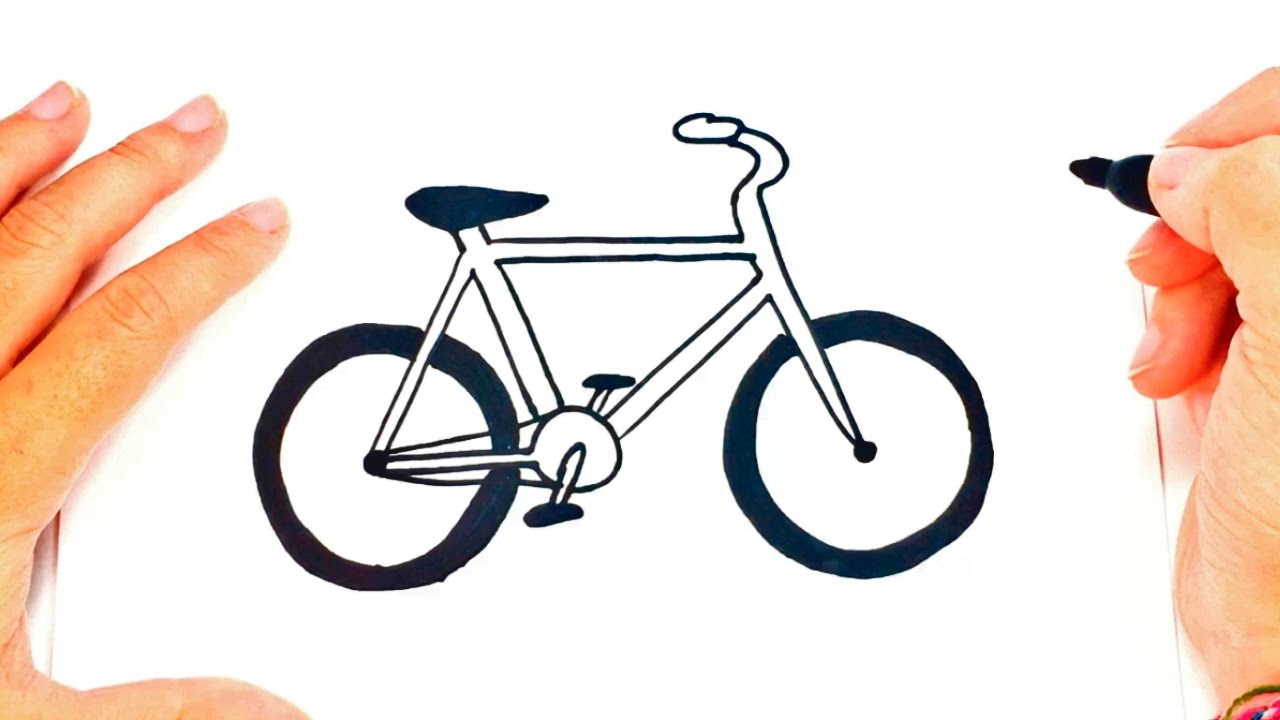 how to draw a bike step by step bike easy draw tutorial
