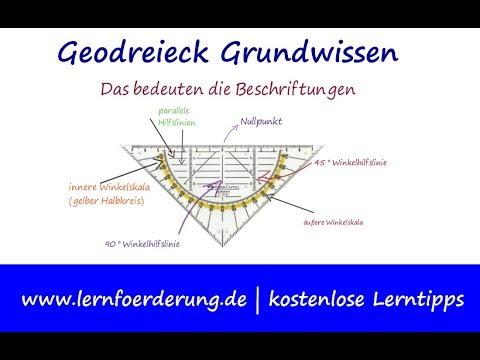Geodreieck Grundwissen: Das muss Ihr Kind wissen
